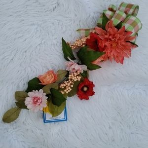 Coral Floral Arrangement Wall Hanging New!